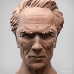 Likeness Bust   Clint Eastwood