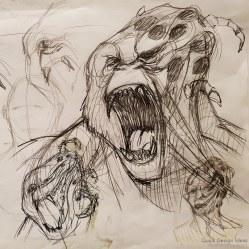 Gorilla Mutation | Original Concept Drawing (2018)