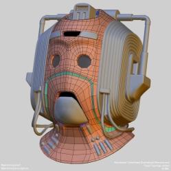 Fanart   Cybermen Helmet   Base topology